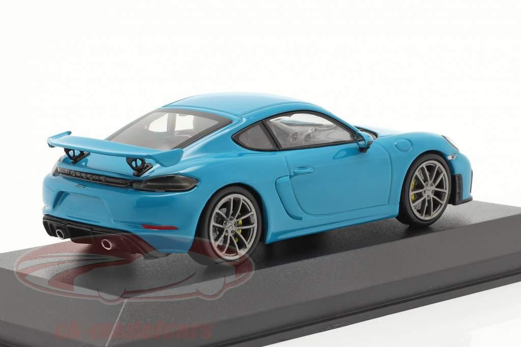 Porsche 718 (982) Cayman GT4 Baujahr 2020 miami blau 1:43 Minichamps
