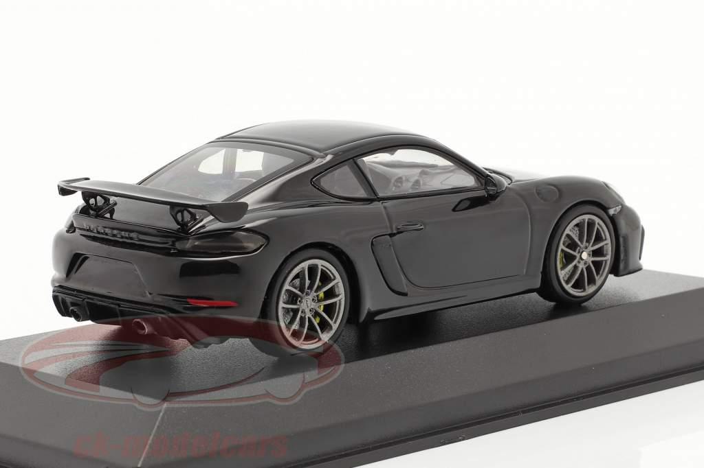 Porsche 718 (982) Cayman GT4 year 2020 black 1:43 Minichamps