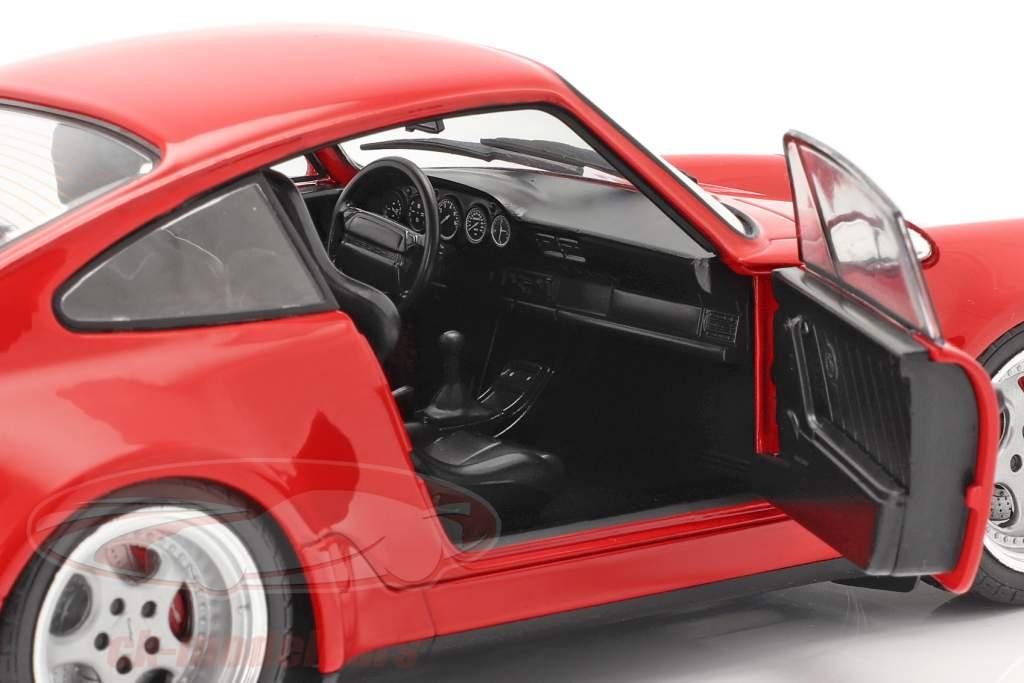 Porsche 911 (964) 3.6 Turbo Bouwjaar 1990 bewakers rood 1:18 Solido