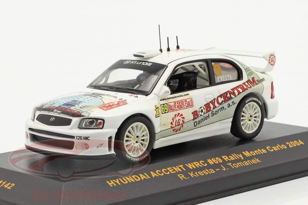 Hyundai Accent WRC #69 Rallye Monte Carlo 2004 Kresta, Tomanek 1:43 Ixo