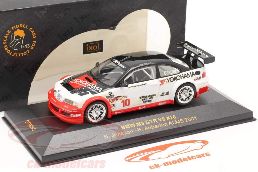 BMW M3 GTR V8 #10 ALMS 2001 Jonsson, Auberlen 1:43 Ixo