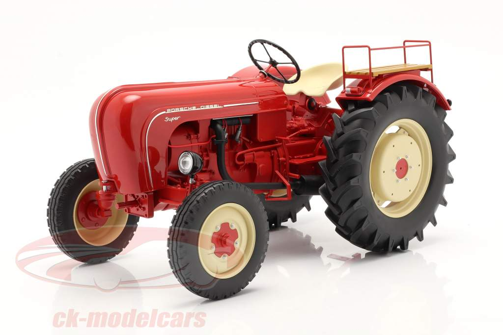 Porsche Super Traktor Baujahr 1958 rot 1:8 Minichamps