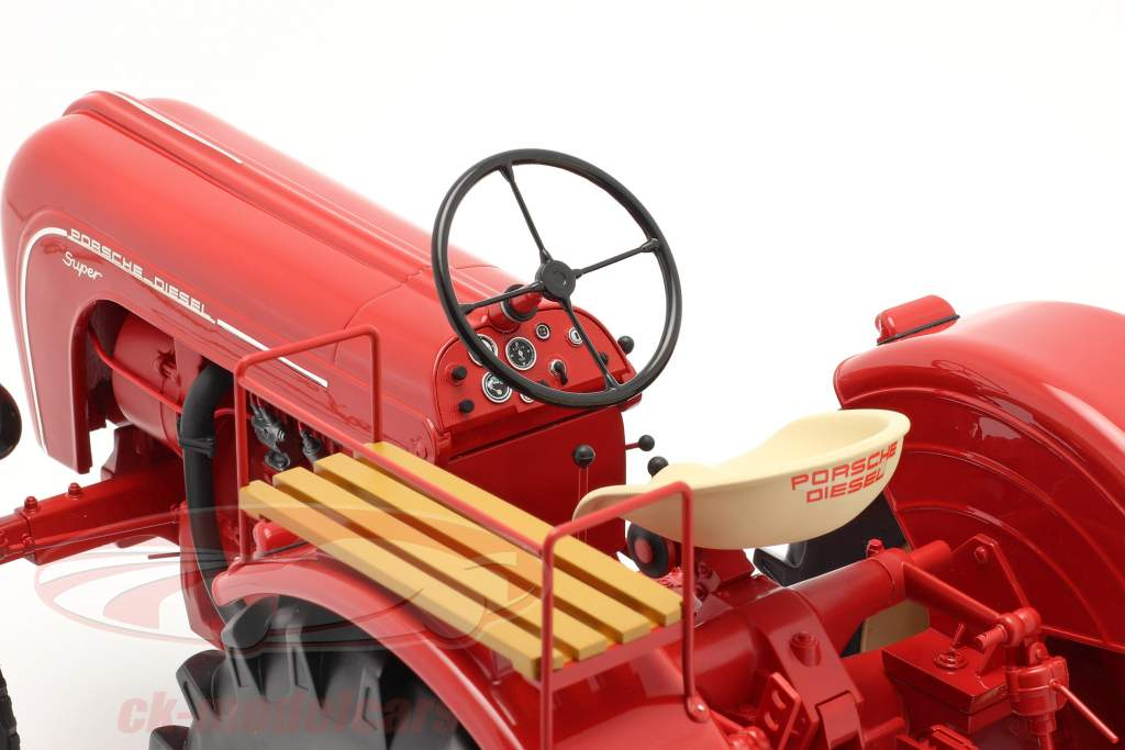 Porsche Super tracteur Année de construction 1958 rouge 1:8 Minichamps