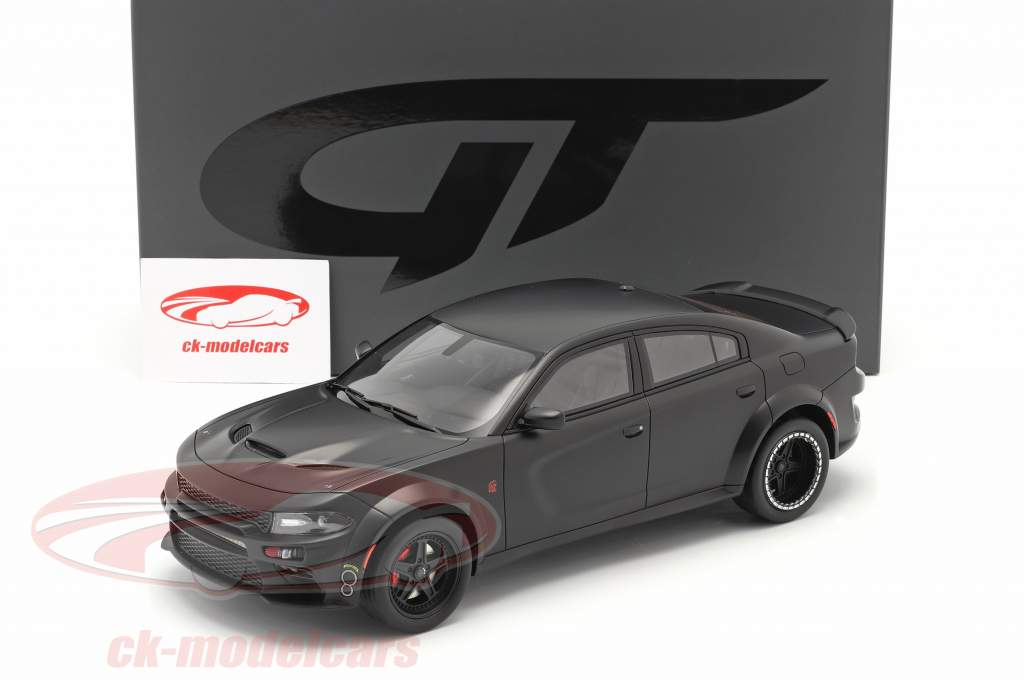SPEEDKORE Dodge Charger SRT Hellcat Widebody 2019 mattschwarz 1:18 GT-Spirit