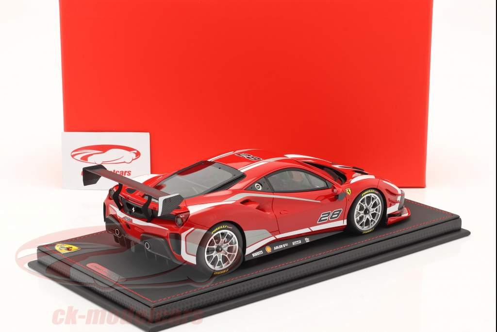 Bbr Models 1 18 Ferrari 488 Challenge Evo 28 2020 Red White P18186 Model Car P18186 8051739721454