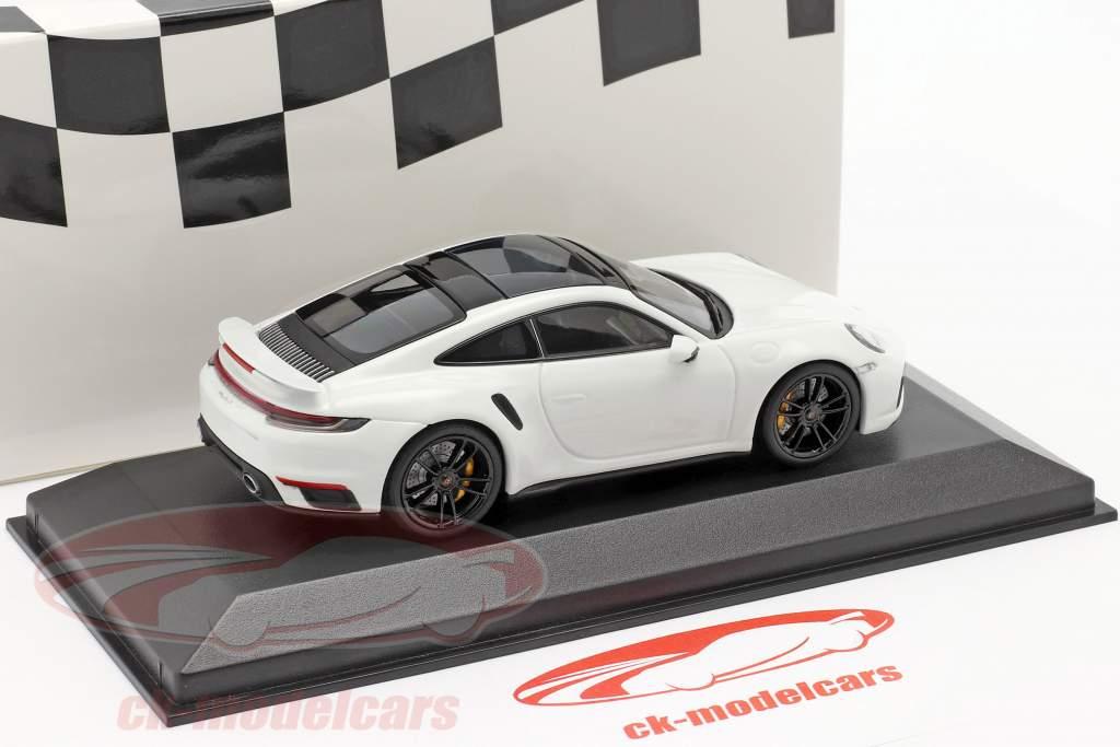 Porsche 911 (992) Turbo S 2020 blanc / noir jantes 1:43 Minichamps