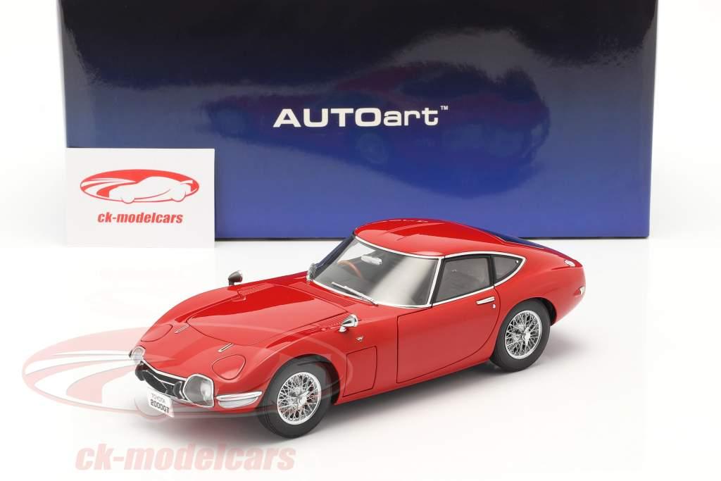 Toyota 2000 GT Coupe Anno di costruzione 1967 rosso 1:18 AUTOart
