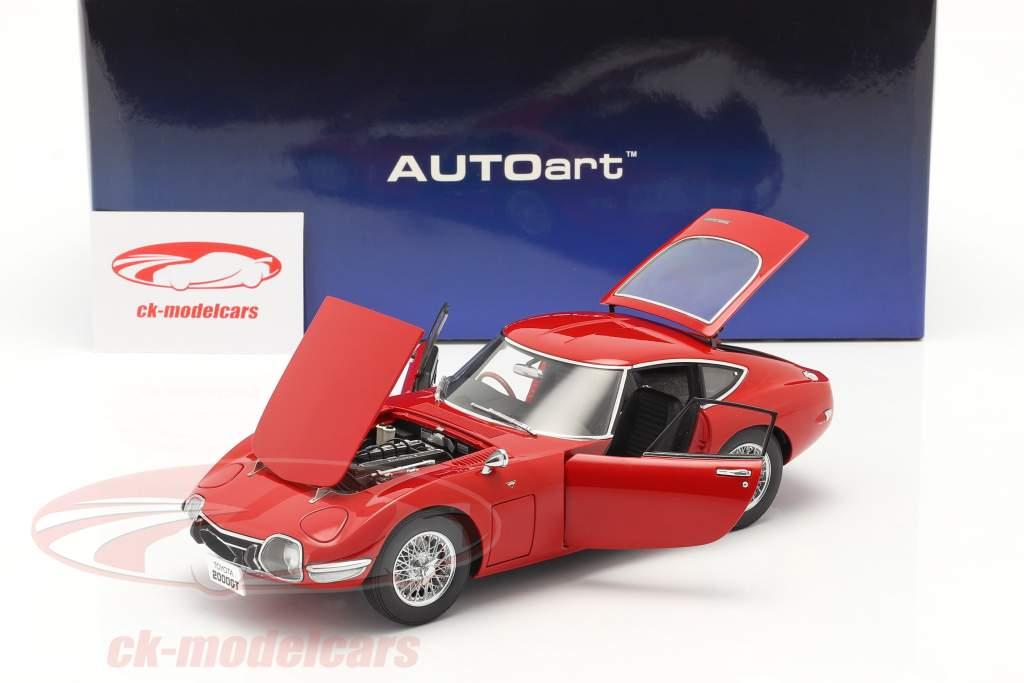Toyota 2000 GT Coupe Año de construcción 1967 rojo 1:18 AUTOart