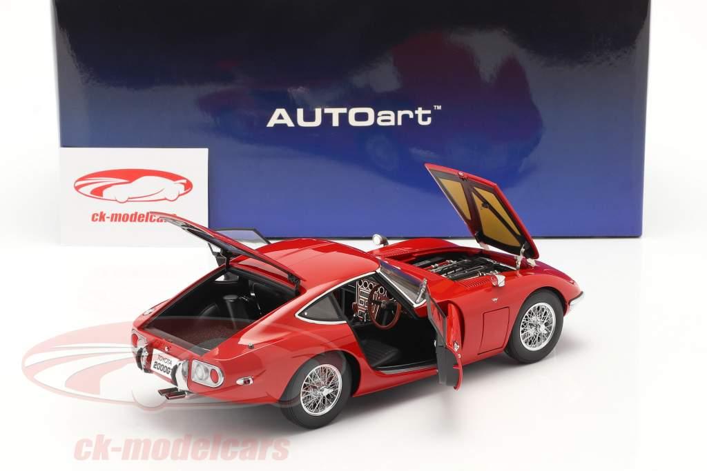 Toyota 2000 GT Coupe Ano de construção 1967 vermelho 1:18 AUTOart
