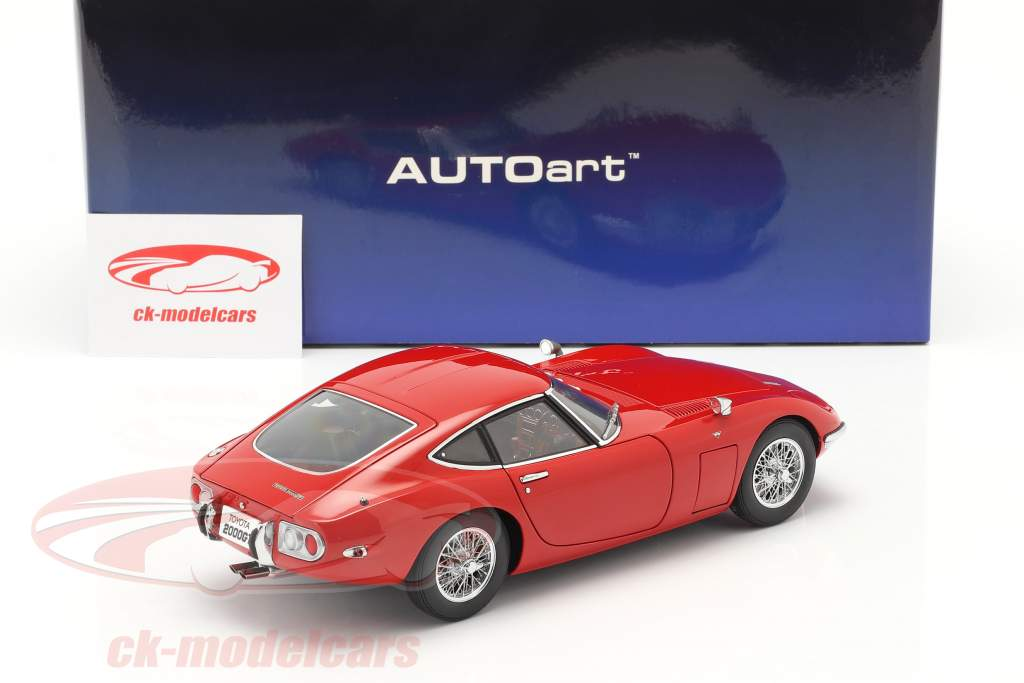 Toyota 2000 GT Coupe Baujahr 1967 rot 1:18 AUTOart