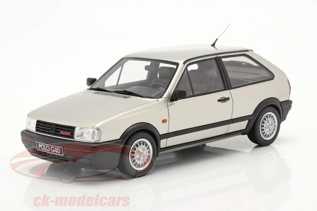 Volkswagen VW Polo Mk2 G40 Año de construcción 1994 diamante plata 1:18 OttOmobile