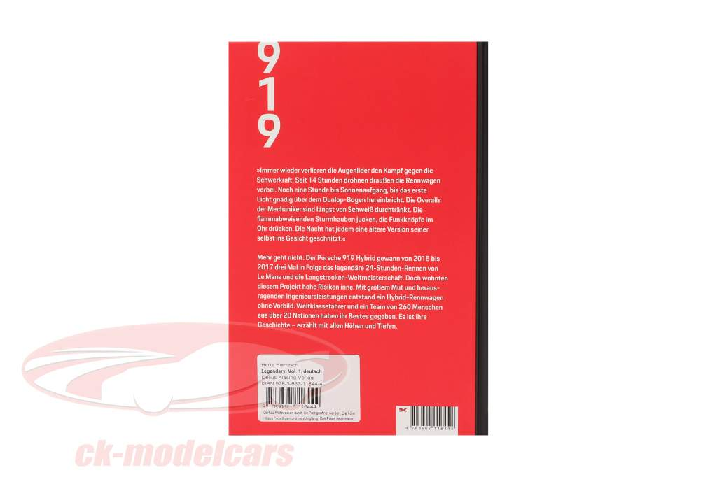 Book: Legendary - The Porsche 919 Hybrid Project (German)
