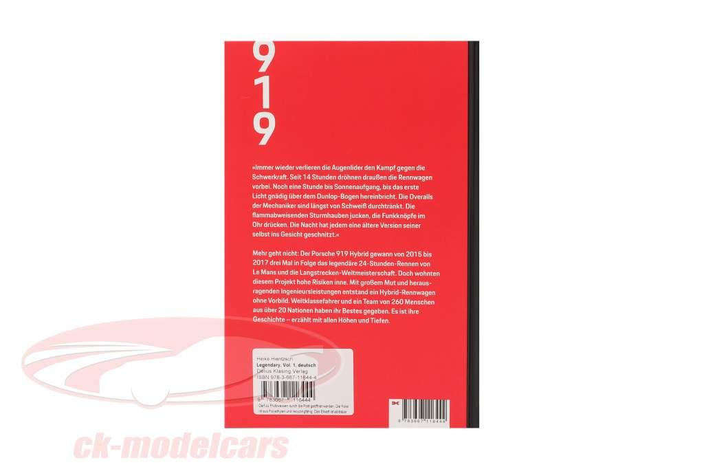 Libro: Leggendario - Il Porsche 919 Ibrido Progetto (Tedesco)