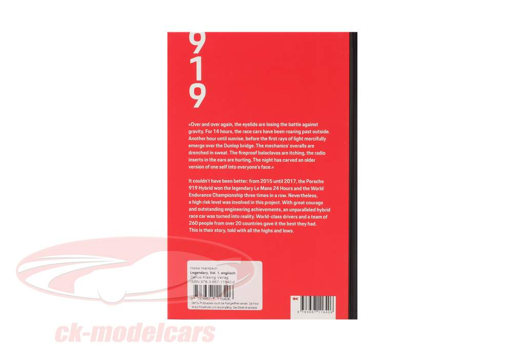 Livre: Légendaire - Le Porsche 919 Hybride Projet (Anglais)