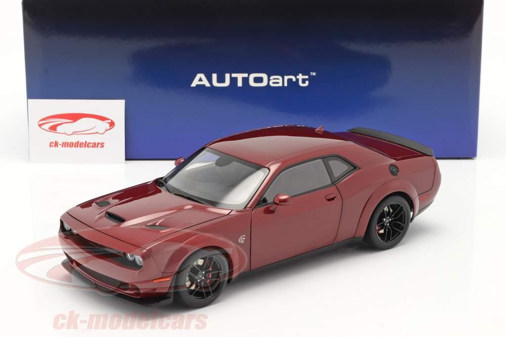 Dodge Challenger SRT Hellcat Byggeår 2018 oktan rød 1:18 AUTOart