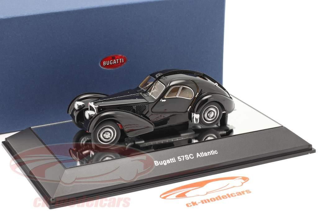 Bugatti 57S Atlantic Anno di costruzione 1938 nero 1:43 AUTOart