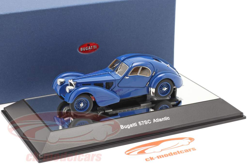 Bugatti Type 57SC Atlantic Baujahr 1938 blau 1:43 AUTOart