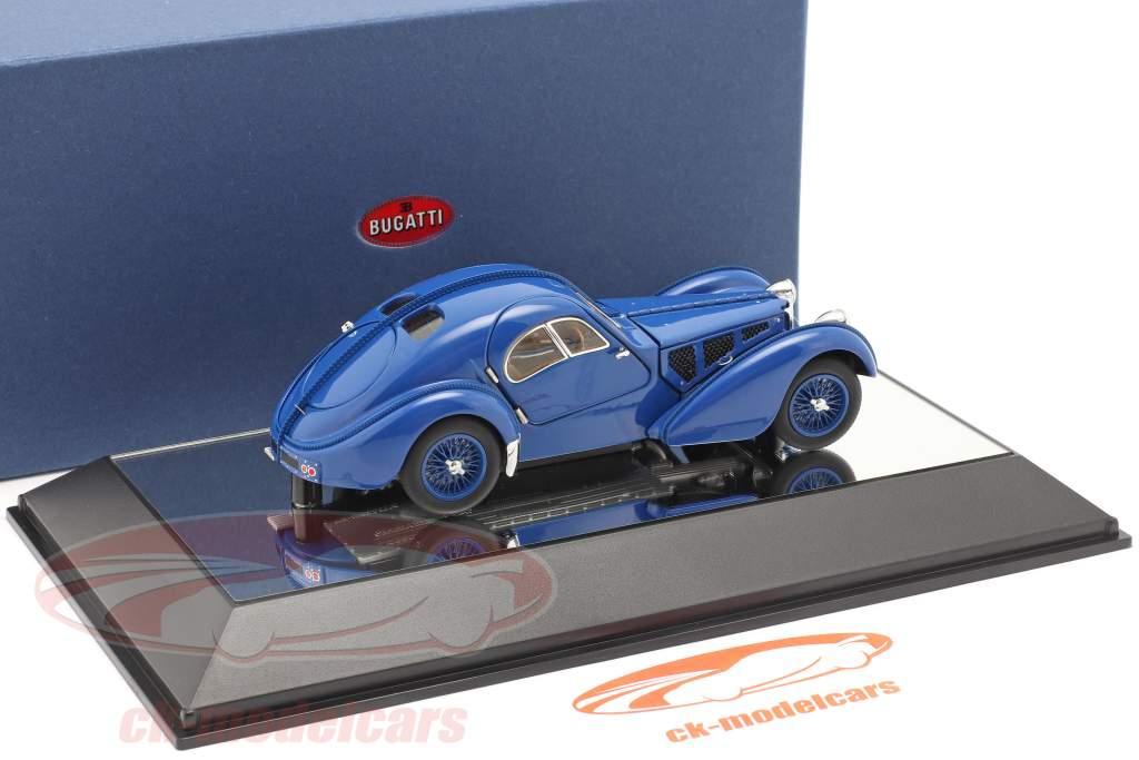 Bugatti Type 57SC Atlantic Année de construction 1938 bleu 1:43 AUTOart