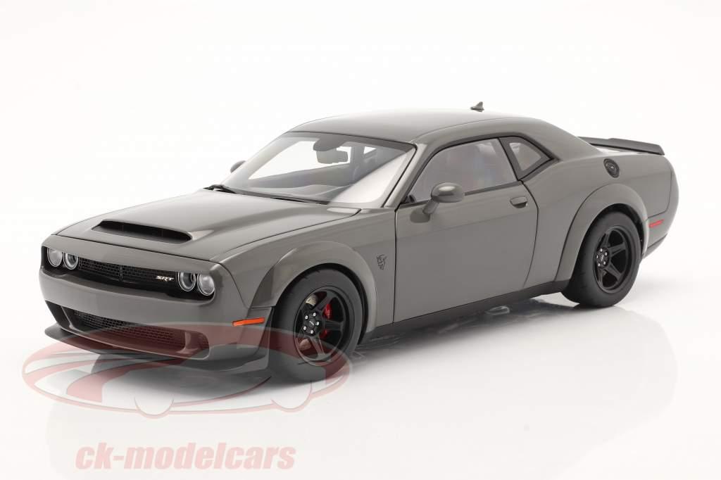 Dodge Challenger SRT Demon Año de construcción 2018 gris 1:18 AUTOart