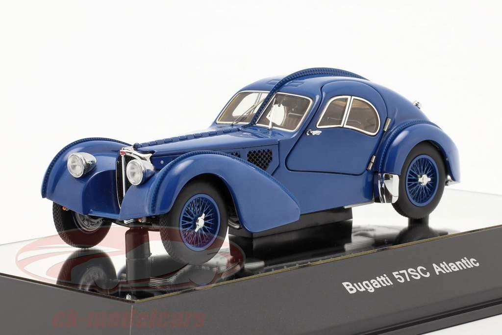 Bugatti Type 57SC Atlantic Bouwjaar 1938 blauw 1:43 AUTOart