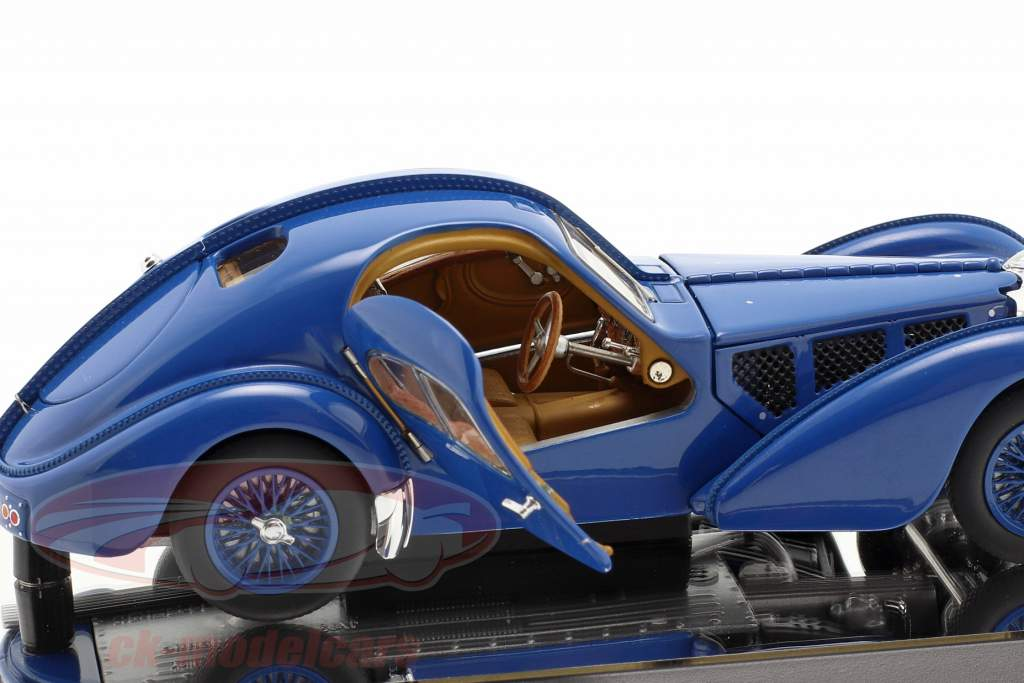 Bugatti Type 57SC Atlantic Ano de construção 1938 azul 1:43 AUTOart