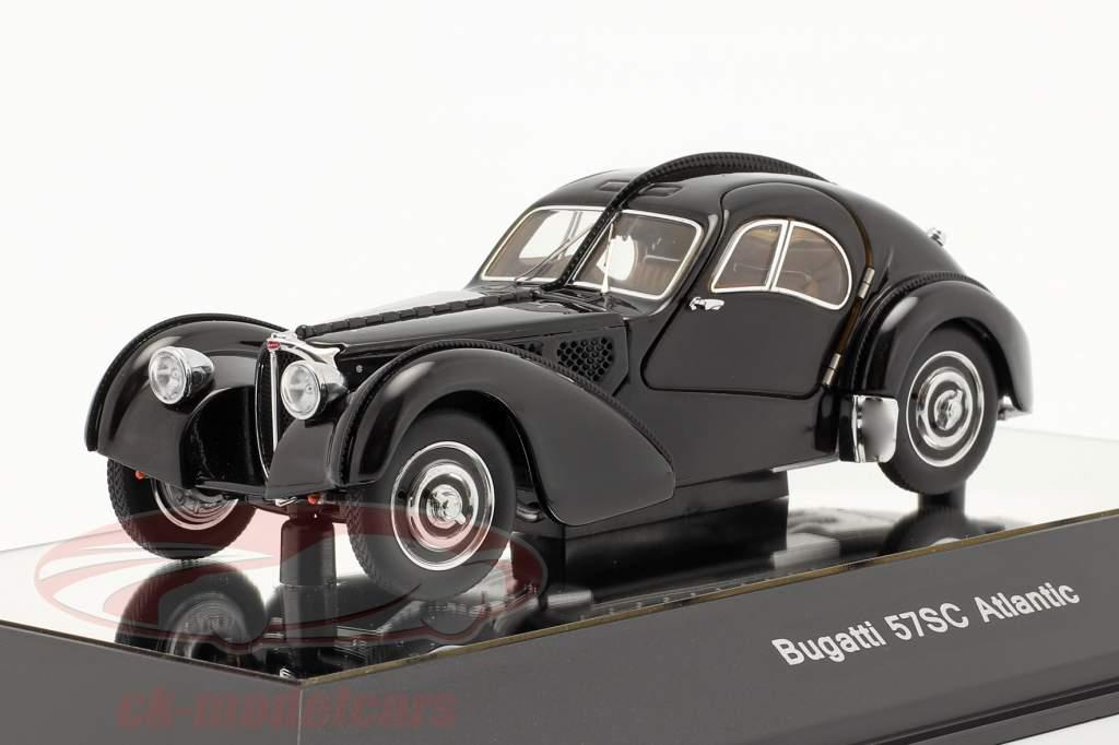 Bugatti 57S Atlantic Byggeår 1938 sort 1:43 AUTOart