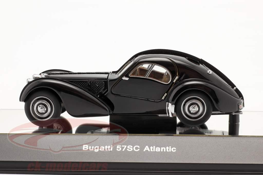 Bugatti 57S Atlantic Baujahr 1938 schwarz 1:43 AUTOart