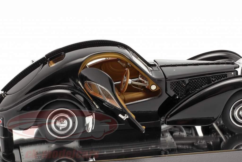 Bugatti 57S Atlantic Ano de construção 1938 Preto 1:43 AUTOart