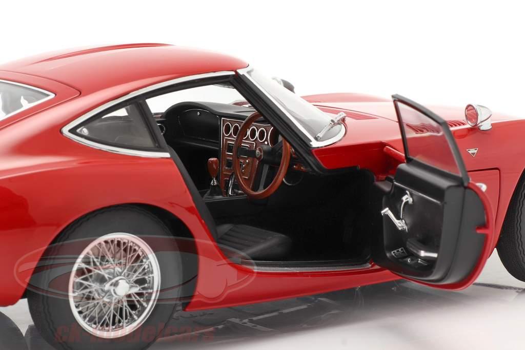 Toyota 2000 GT Coupe Bouwjaar 1967 rood 1:18 AUTOart
