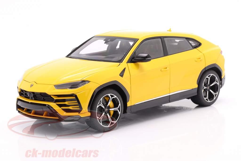 Lamborghini Urus year 2018 yellow 1:18 AUTOart