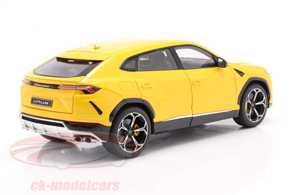 Lamborghini Urus Bouwjaar 2018 geel 1:18 AUTOart