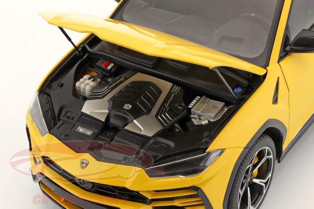 Lamborghini Urus Année de construction 2018 jaune 1:18 AUTOart
