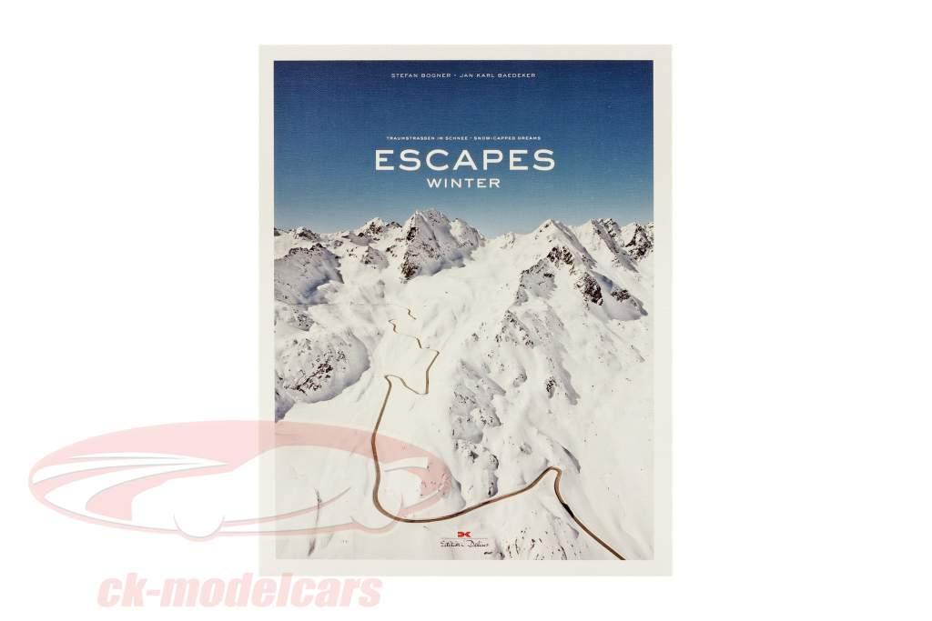Boek: ESCAPES - winter  Droomwegen in de sneeuw door S. Bogner & J.K. Baedeker
