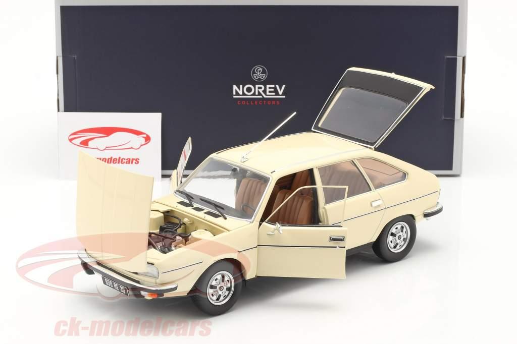 Renault 20 TS Byggeår 1978 beige 1:18 Norev