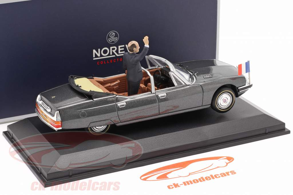 Citroen SM Presidentielle Open Cabriolet 1981 Grå metallisk 1:43 Norev
