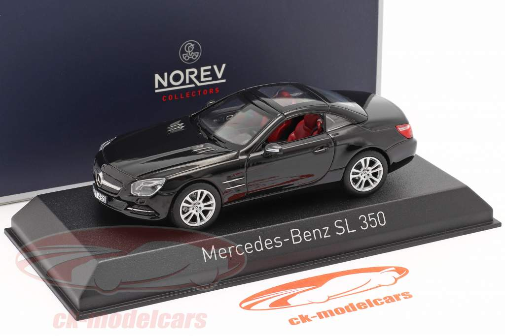 Mercedes-Benz SL 350 Roadster Bouwjaar 2012 zwart 1:43 Norev