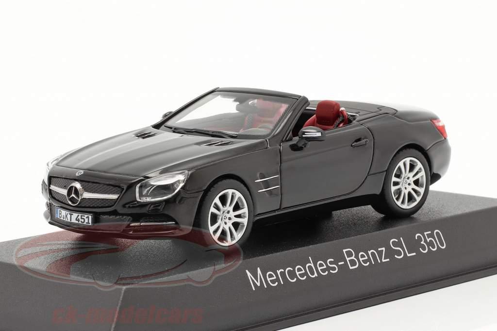 Mercedes-Benz SL 350 Roadster Baujahr 2012 schwarz 1:43 Norev
