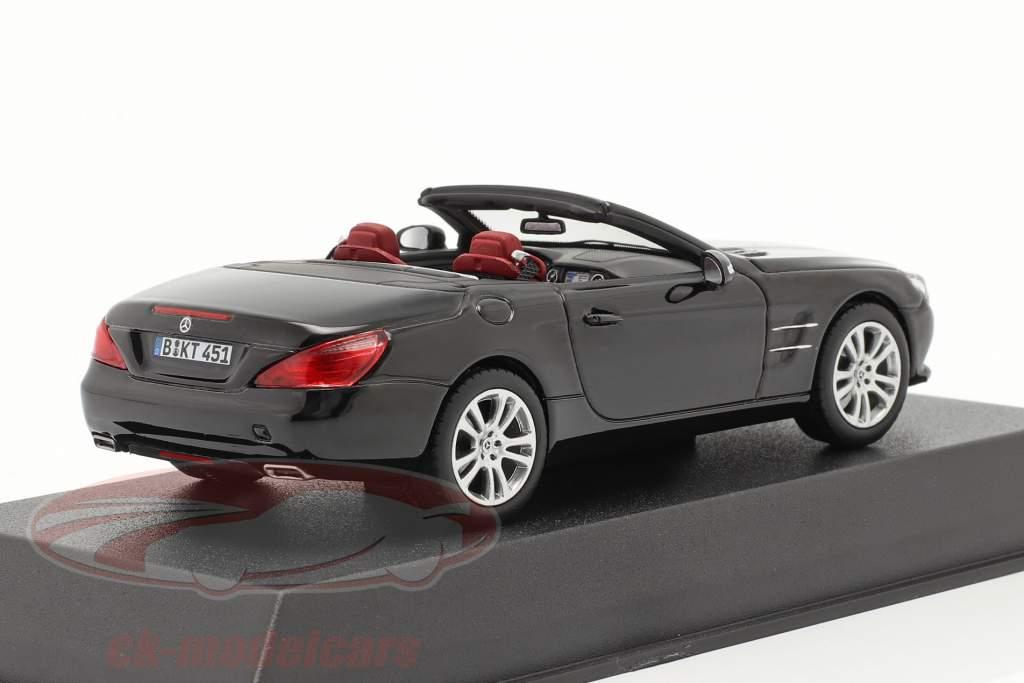 Mercedes-Benz SL 350 Roadster Año de construcción 2012 negro 1:43 Norev