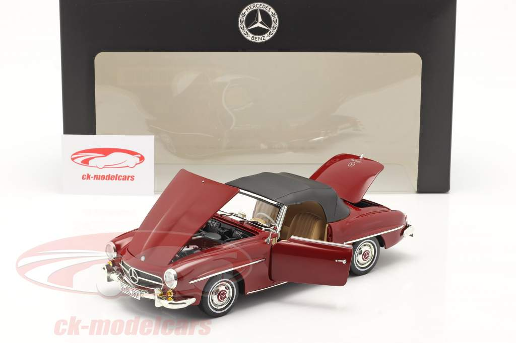 Mercedes-Benz 190 SL (W121) Anno di costruzione 1955-63 medio rosso 1:18 Norev