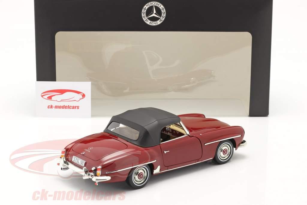 Mercedes-Benz 190 SL (W121) Année de construction 1955-63 moyen rouge 1:18 Norev