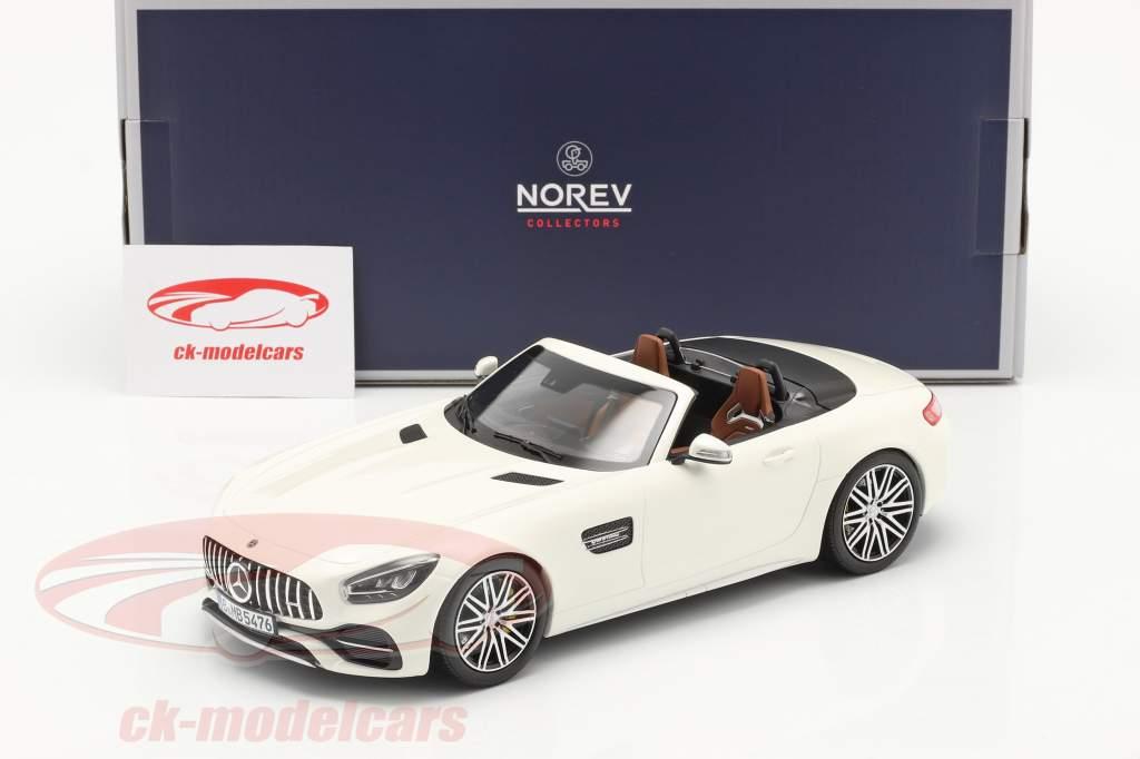 Mercedes-Benz AMG GT C Roadster Bouwjaar 2019 Wit metalen 1:18 Norev