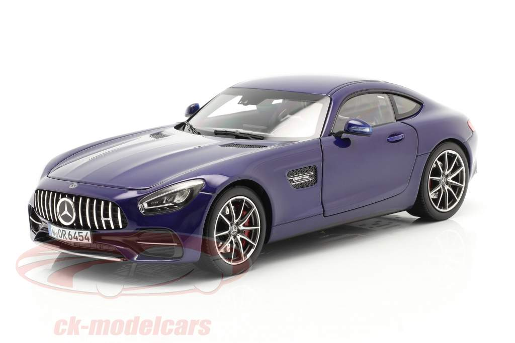 Mercedes-Benz AMG GT S Año de construcción 2019 azul metálico 1:18 Norev
