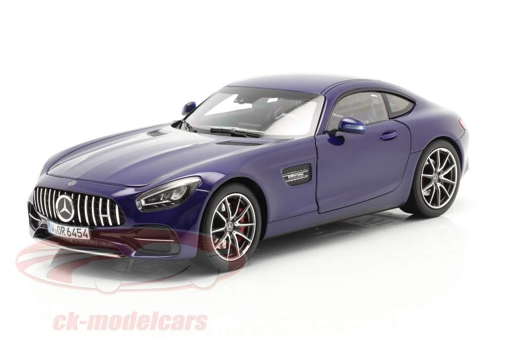 Mercedes-Benz AMG GT S year 2019 blue metallic 1:18 Norev