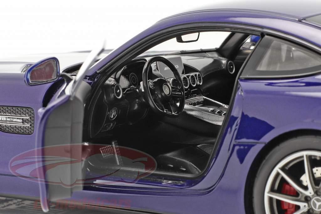 Mercedes-Benz AMG GT S Byggeår 2019 blå metallisk 1:18 Norev