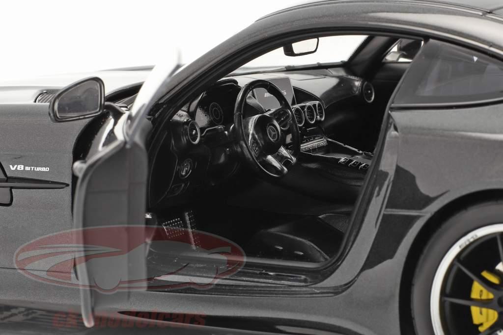 Mercedes-Benz AMG GT R Byggeår 2019 mørkegrå metallisk 1:18 Norev