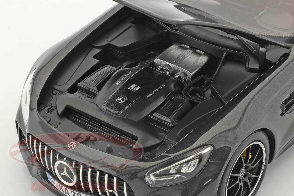 Mercedes-Benz AMG GT R Année de construction 2019 gris foncé métallique 1:18 Norev