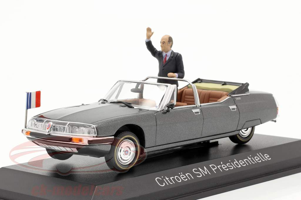 Citroen SM Presidentielle Open Cabriolet 1981 grise métallique 1:43 Norev