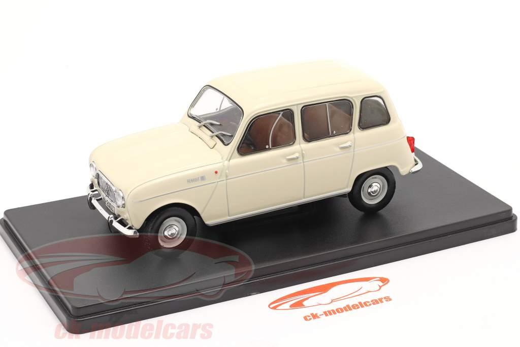 Renault 4L Año de construcción 1964 crema blanco 1:24 Altaya