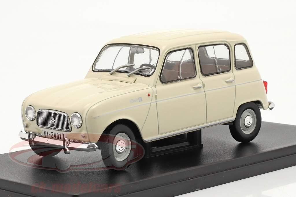 Renault 4L Ano de construção 1964 creme Branco 1:24 Altaya