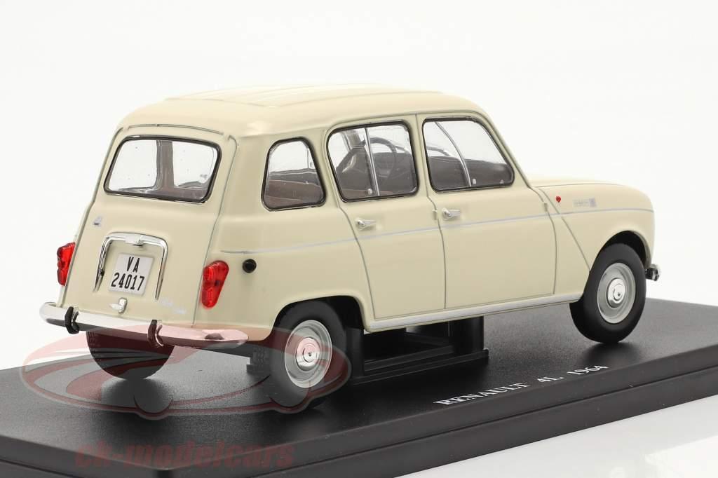 Renault 4L Anno di costruzione 1964 crema bianca 1:24 Altaya